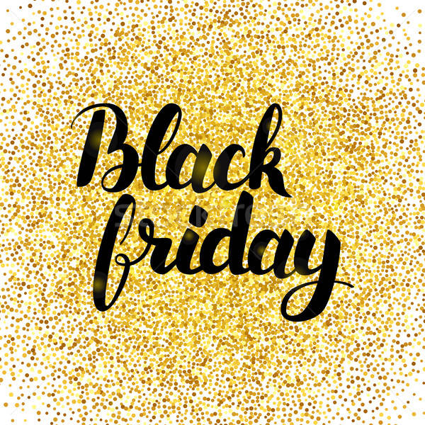 Stock photo: Black Friday Gold Poster
