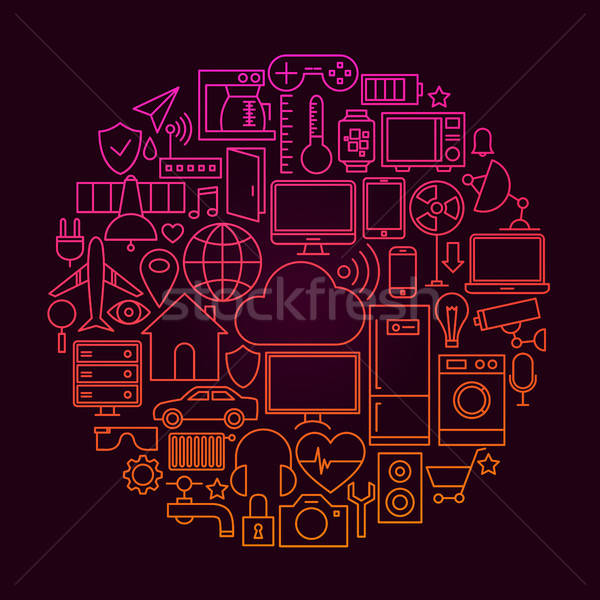 Internet of Things Line Icon Concept Stock photo © Anna_leni