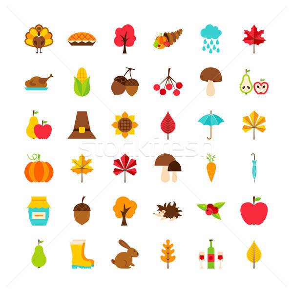Big Set Thanksgiving Day Objects Stock photo © Anna_leni