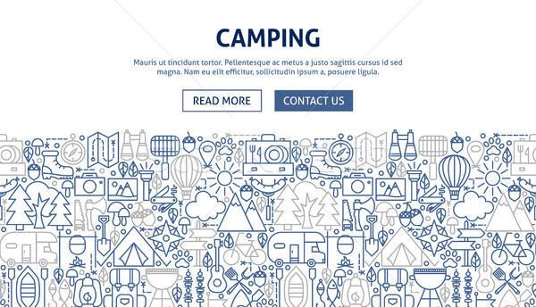 Camping Banner Design Stock photo © Anna_leni