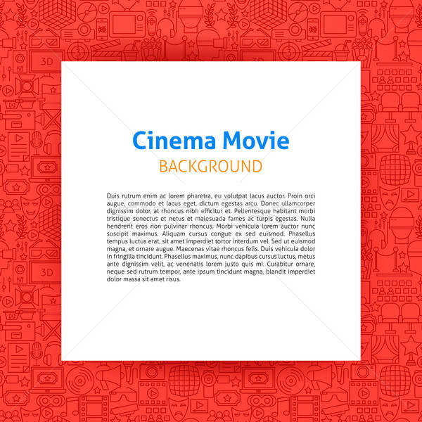 Cinéma film papier modèle design Photo stock © Anna_leni