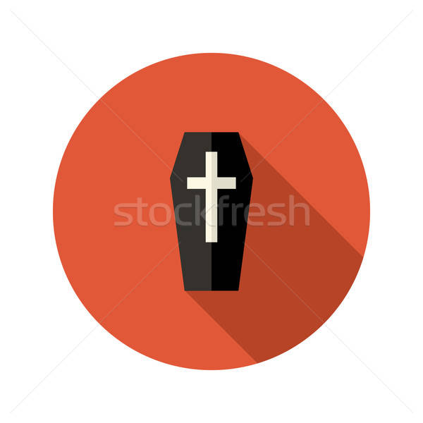 Siyah tabut ikon çapraz ölüm din Stok fotoğraf © Anna_leni