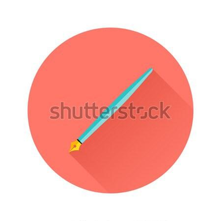 Pen Flat Circle Icon Stock photo © Anna_leni