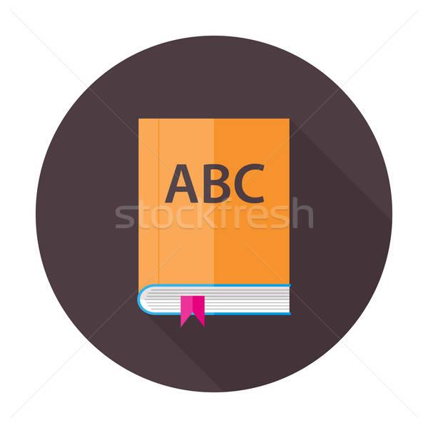 Anglais leçon livre cercle icône illustration Photo stock © Anna_leni
