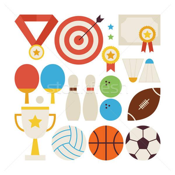 Style vecteur ensemble sport concurrence Photo stock © Anna_leni