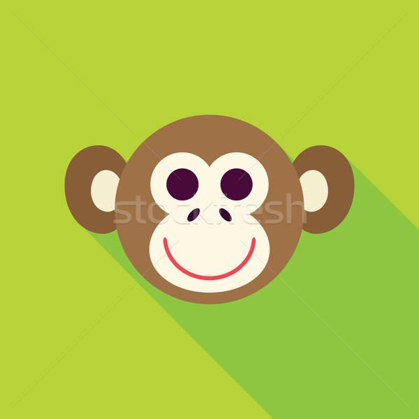 Vektor terv majom arc ikon emberszabású majom Stock fotó © Anna_leni