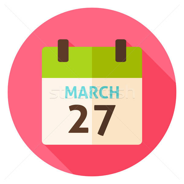 Pascua calendario fecha círculo icono diseno Foto stock © Anna_leni