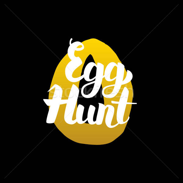 Handwritten Calligraphy Egg Hunt Stock photo © Anna_leni