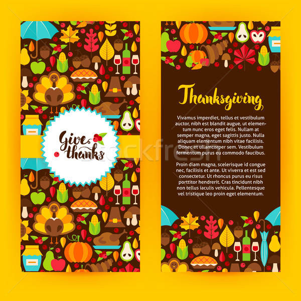 Flyer Template Thanksgiving Stock photo © Anna_leni