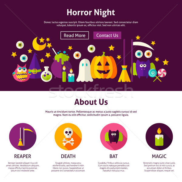 Horror Night Web Design Template Stock photo © Anna_leni