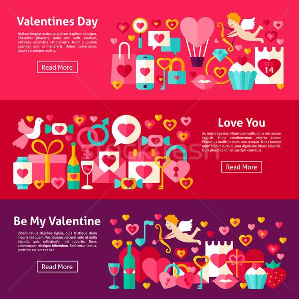 Valentines Day Web Horizontal Banners Stock photo © Anna_leni