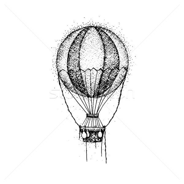 Dotwork Hot Air Balloon Stock photo © Anna_leni
