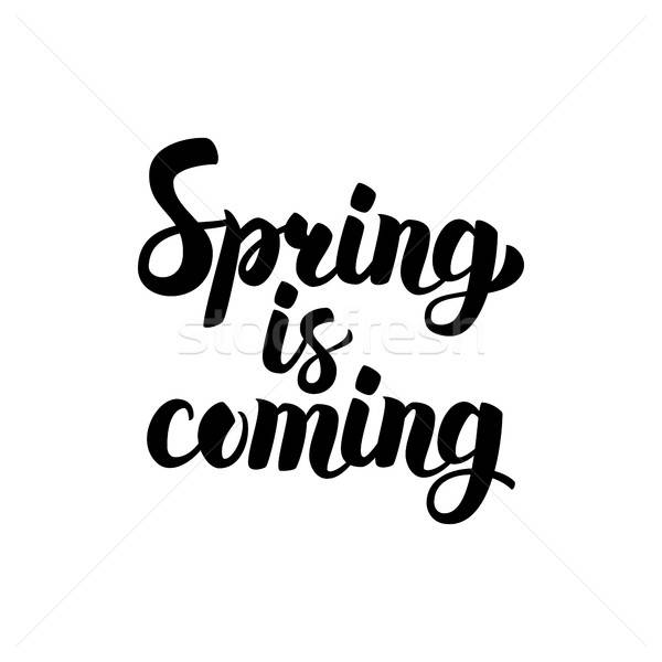 Stock photo: Spring is Coming Calligraphy