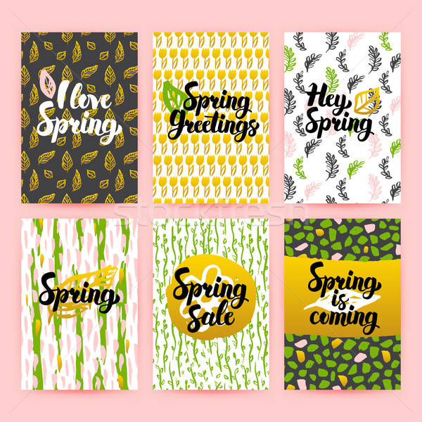 Hello Spring Trendy Brochures Stock photo © Anna_leni