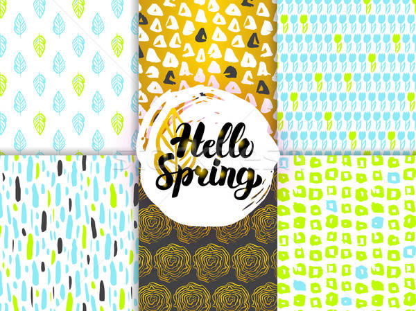 Spring Nature Funky Seamless Patterns Stock photo © Anna_leni