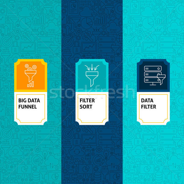 Stock photo: Line Data Filter Package Labels