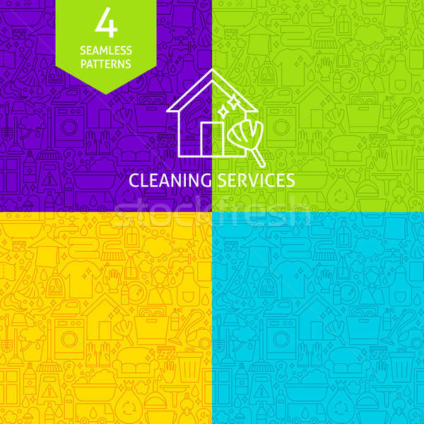 Line Cleaning Services Patterns Stock photo © Anna_leni