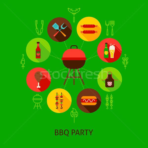 Concept BBQ Party Stock photo © Anna_leni