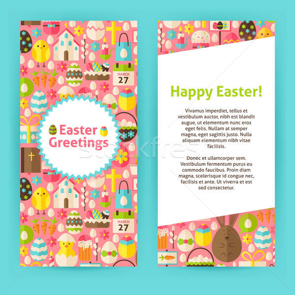 Vertical Flyer Templates for Happy Easter Stock photo © Anna_leni