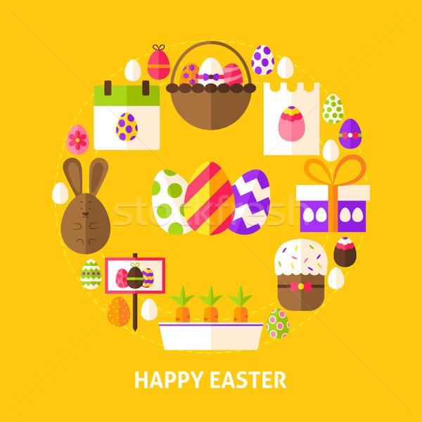 Happy Easter Postcard Stock photo © Anna_leni