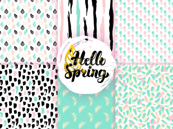 Nature Spring Funky Seamless Patterns Stock photo © Anna_leni