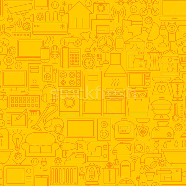 Household Appliance Line Tile Pattern Stock photo © Anna_leni