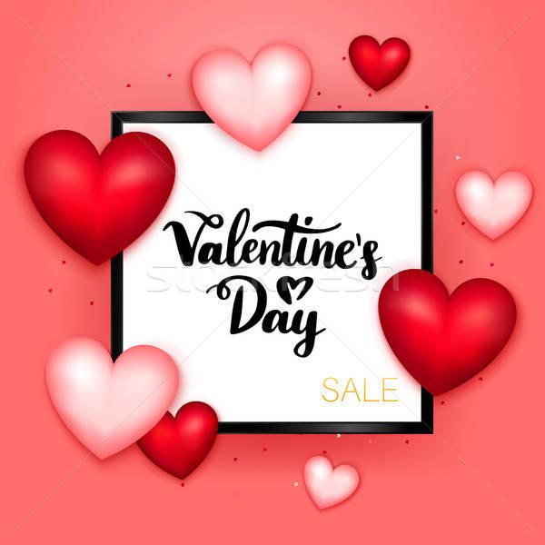 Valentines Day Sale Postcard Template Stock photo © Anna_leni