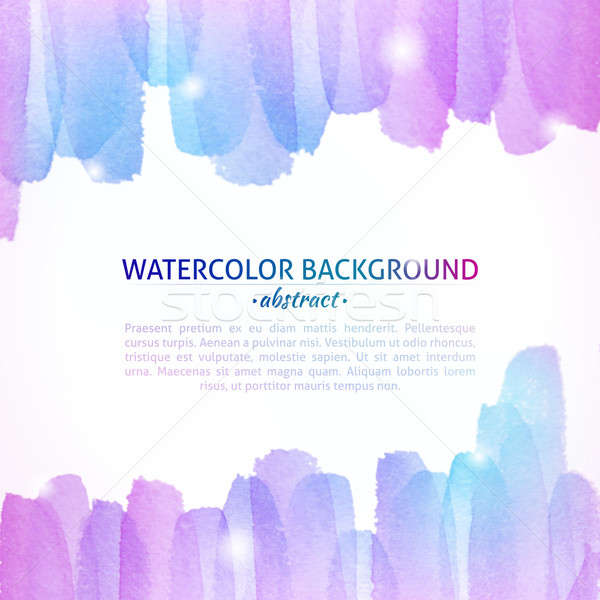 Watercolor Colorful Abstract Background Stock photo © Anna_leni