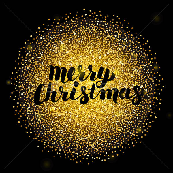 Merry Christmas over Gold Circle Stock photo © Anna_leni