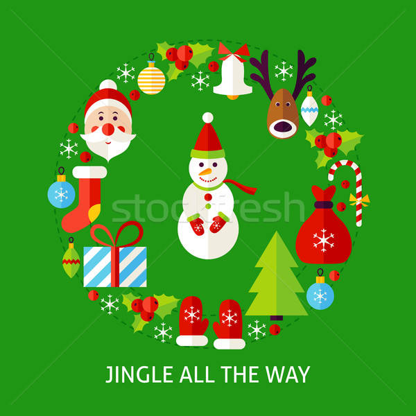 Jingle All The Way Postcard Stock photo © Anna_leni