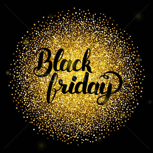 Black friday ouro venda caligrafia dourado Foto stock © Anna_leni