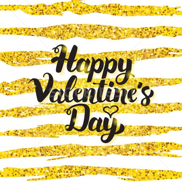 Happy Valentine Day Handwritten Card Stock photo © Anna_leni