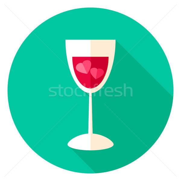Stock photo: Love Drink Circle Icon