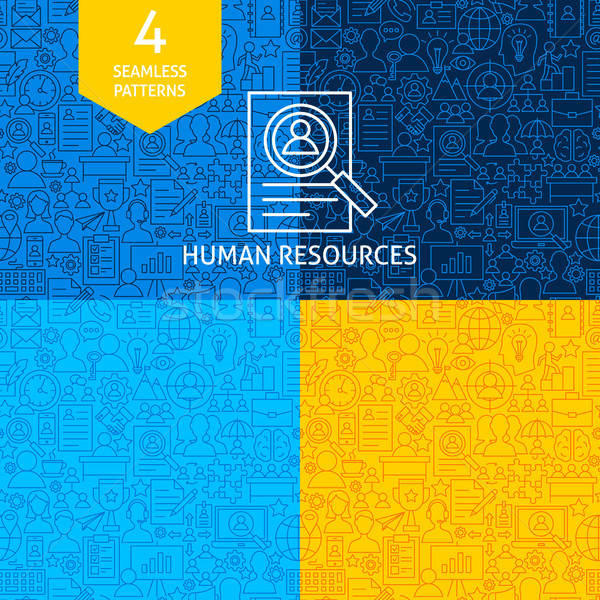 Line Human Resources Patterns Stock photo © Anna_leni