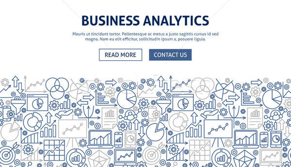Business Analytics Banner Design Stock photo © Anna_leni