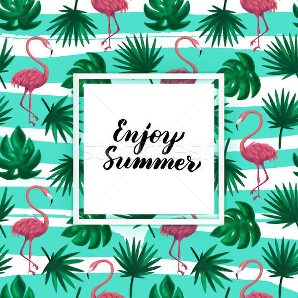 Stock photo: Enjoy Summer Tropical Postcard