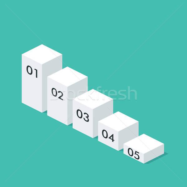 Isométrica traçar modelo traçado negócio apresentação Foto stock © Anna_leni