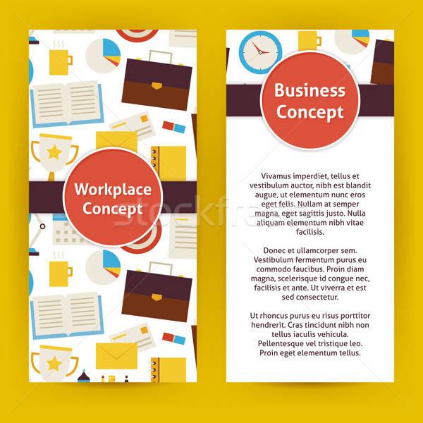 商業照片: 向量 · 傳單 · 模板 · 設計 · 業務 · 工作場所