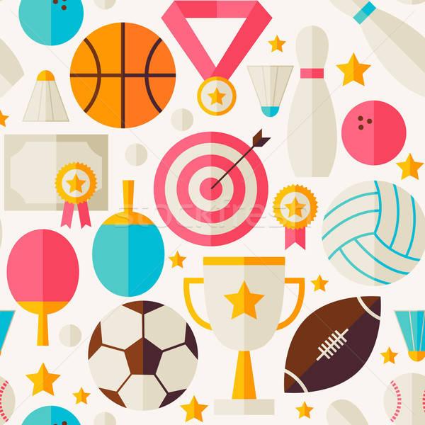 Sport concurrence vecteur sport Photo stock © Anna_leni