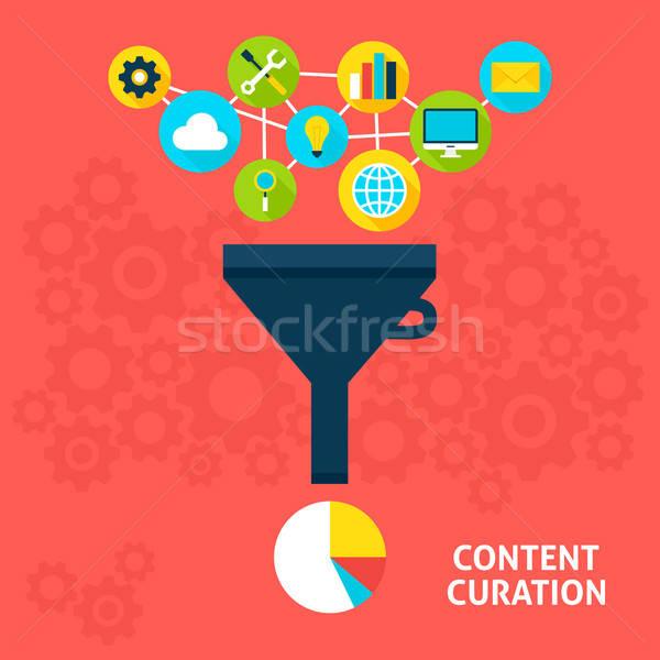 Stockfoto: Inhoud · stijl · groot · gegevens · filteren · analyse