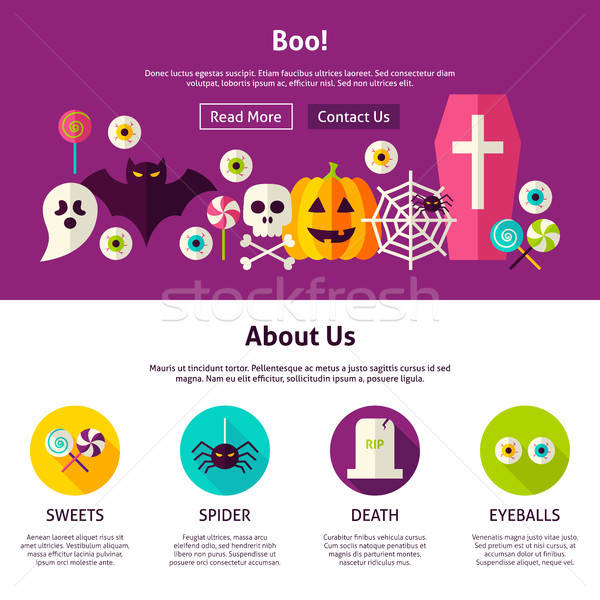 Boo Web Design Template Stock photo © Anna_leni