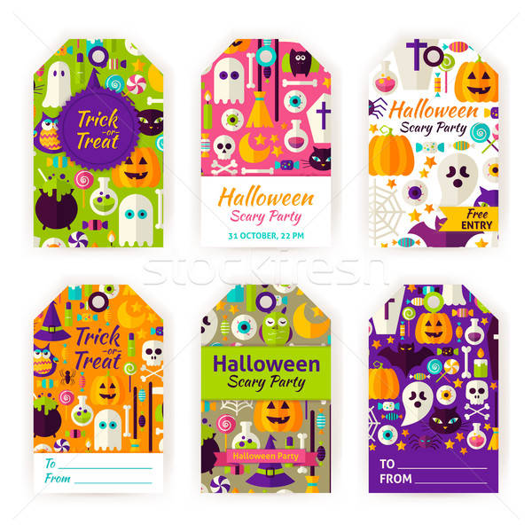 Halloween Gift Tag Labels Stock photo © Anna_leni