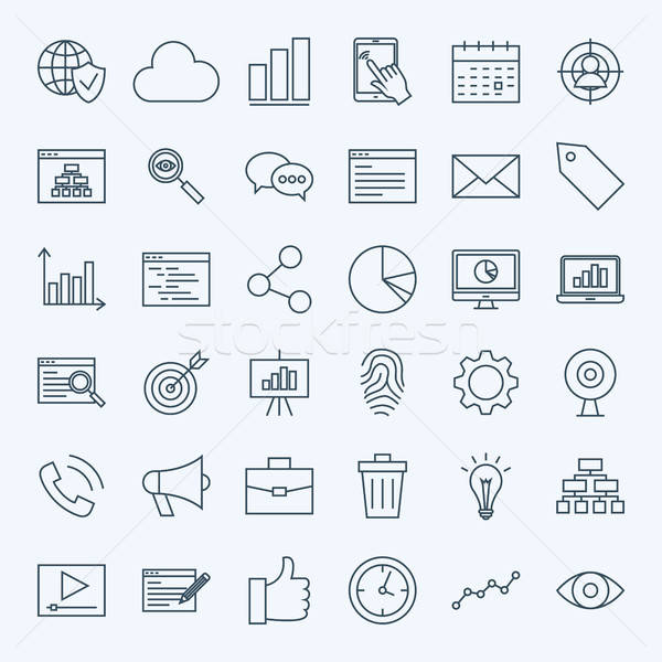 Line Development Icons Stock photo © Anna_leni