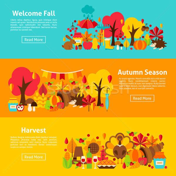 Fall Web Horizontal Banners Stock photo © Anna_leni