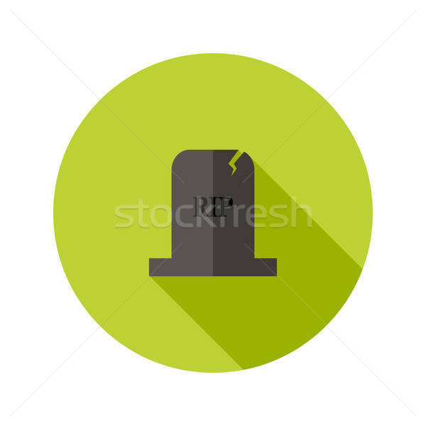 Grey Tombstone RIP Flat Icon Stock photo © Anna_leni