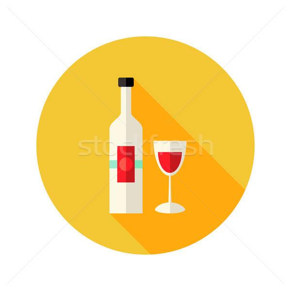 Christmas wijnfles glas icon voedsel fles Stockfoto © Anna_leni