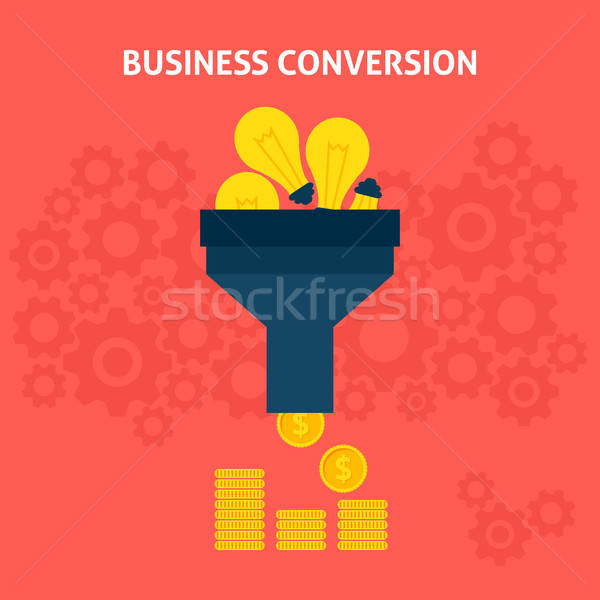 Business Conversion Flat Concept Stock photo © Anna_leni