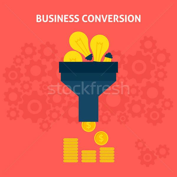 Business Conversion Flat Concept Stock photo © Anna_leni