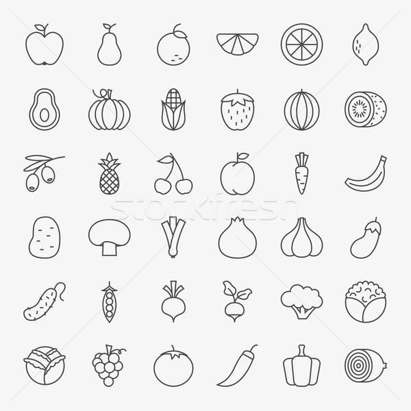 フルーツ 野菜 行 芸術 アイコン ビッグ ストックフォト © Anna_leni