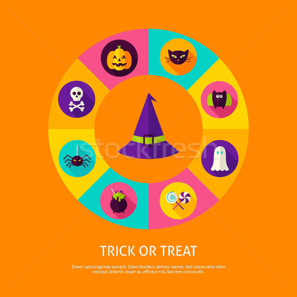 Trick or Treat Infographic Concept Stock photo © Anna_leni
